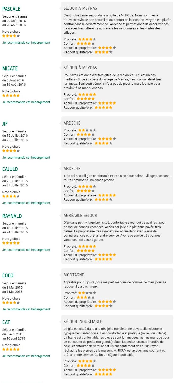 Avis-clients-Gite-Ardeche-La-Clede