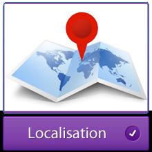Localisation des gîtes